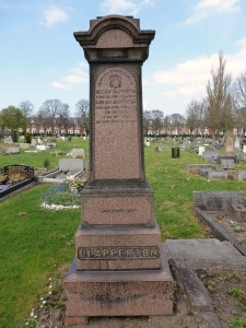 In Loving Remembrance of William Clapperton Dearly Beloved Husband of Mary Ann Clapperton Who Departed this Life Feb 28th 1894 In His 47th Year All Saints Cemetery, Newcastle Upon Tyne Photo Courtesy of Peter Walker