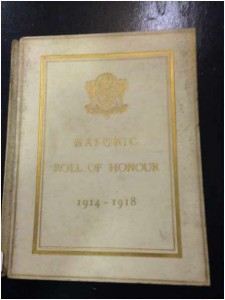 Masonic Roll of Honour 1914 - 1918