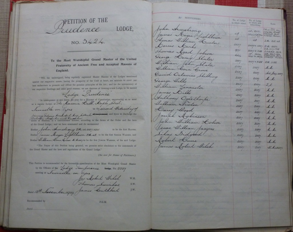 Petition of Prudence Lodge 5424